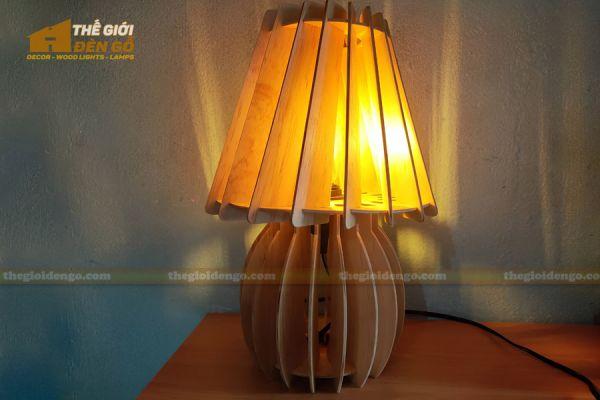 Thế Giới Đèn Gỗ - Đèn gỗ trang trí để bàn DGB011 - 2