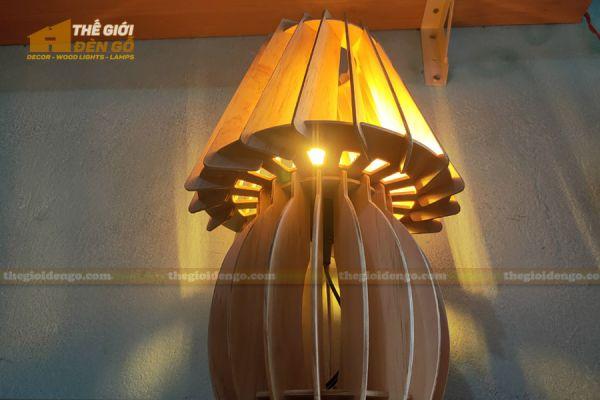 Thế Giới Đèn Gỗ - Đèn gỗ trang trí để bàn DGB011 - 3