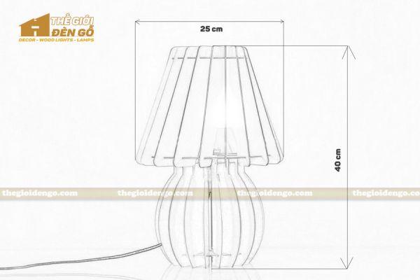 Thế Giới Đèn Gỗ - Đèn gỗ trang trí để bàn DGB011 - 7