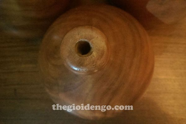 Thế Giới Đèn Gỗ - Đèn gỗ trang trí tiện nguyên khối DGT001-1