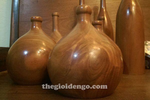 Thế Giới Đèn Gỗ - Đèn gỗ trang trí tiện nguyên khối DGT001-2