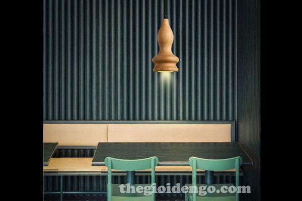 Thế Giới Đèn Gỗ - Đèn gỗ trang trí tiện nguyên khối DGT005-2