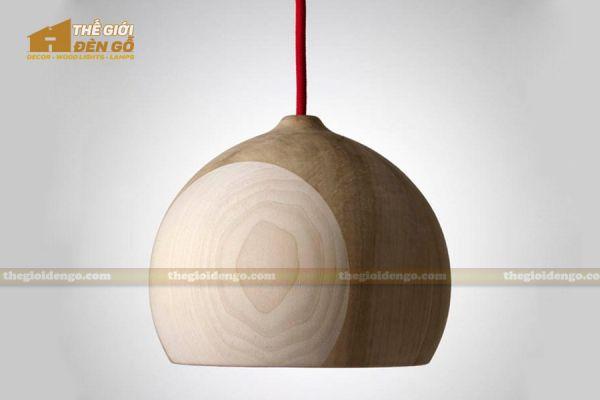 Thế Giới Đèn Gỗ - Đèn gỗ trang trí tiện nguyên khối DGT006-1