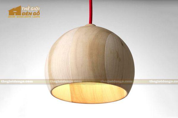 Thế Giới Đèn Gỗ - Đèn gỗ trang trí tiện nguyên khối DGT006