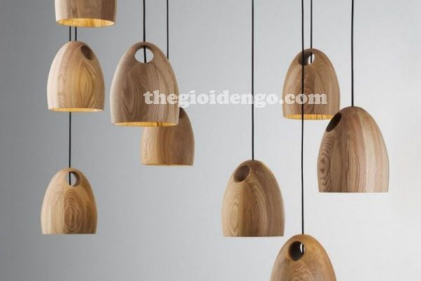 Thế Giới Đèn Gỗ - Đèn gỗ trang trí tiện nguyên khối DGT0067