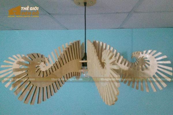 Thế Giới Đèn Gỗ - Đèn gỗ trang trí bạch tuộc - 3