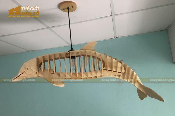 Thế Giới Đèn Gỗ - Đèn gỗ trang trí cá heo 8