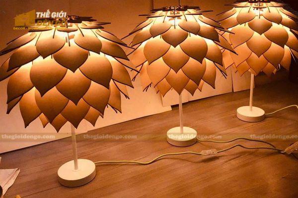Thế Giới Đèn Gỗ - Đèn gỗ trang trí để bàn DGB030-1