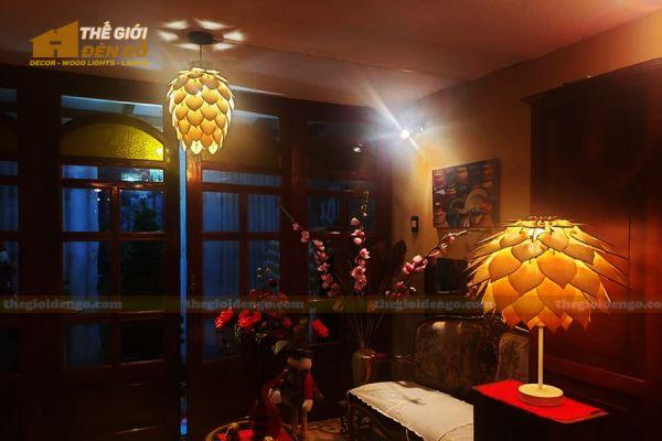 Thế Giới Đèn Gỗ - Đèn gỗ trang trí để bàn DGB030-2