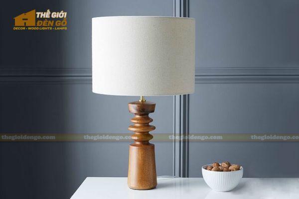 Thế Giới Đèn Gỗ - Đèn gỗ trang trí để bàn DGB032