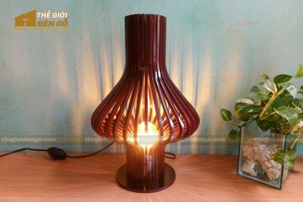 Thế Giới Đèn Gỗ - Đèn gỗ trang trí để bàn DGB016-2