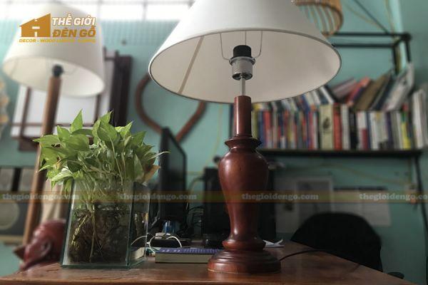 Thế Giới Đèn Gỗ - Đèn gỗ trang trí để bàn DGB021 - 1
