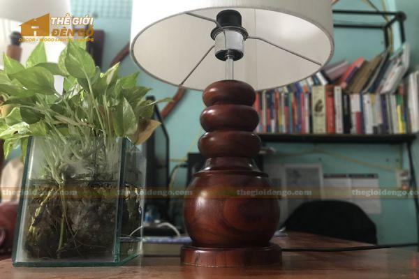 Thế Giới Đèn Gỗ - Đèn gỗ trang trí để bàn DGB022 - 1