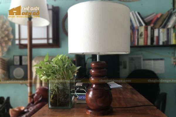 Thế Giới Đèn Gỗ - Đèn gỗ trang trí để bàn DGB022
