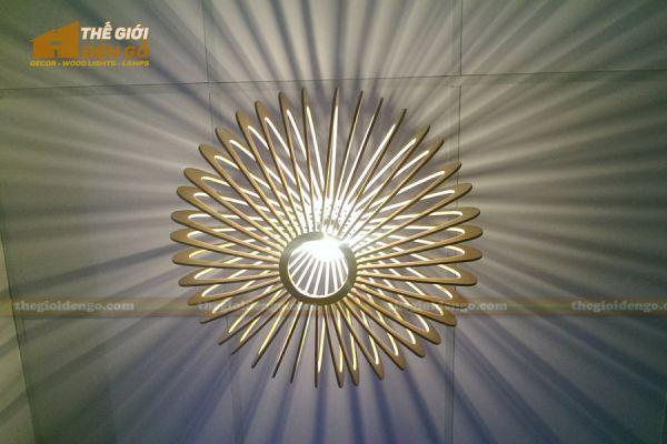 Thế Giới Đèn Gỗ - Đèn gỗ trang trí đĩa bay 10
