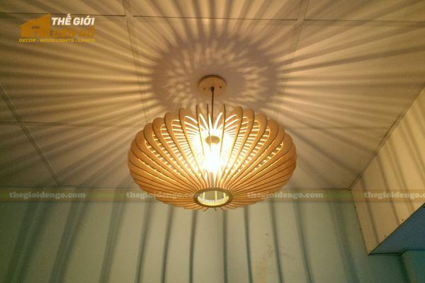 Thế Giới Đèn Gỗ - Đèn gỗ trang trí đĩa bay 9