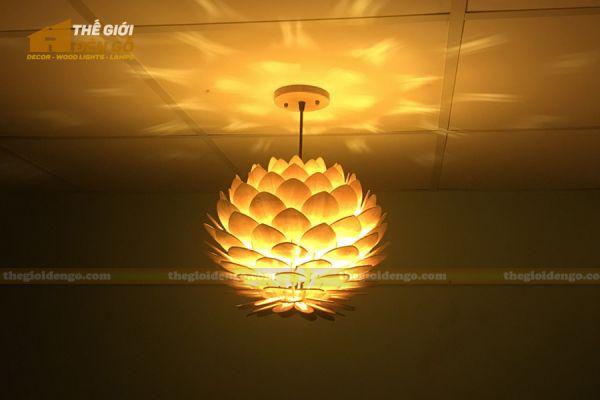 Thế Giới Đèn Gỗ - Đèn gỗ trang trí hoa cúc bất tử 8