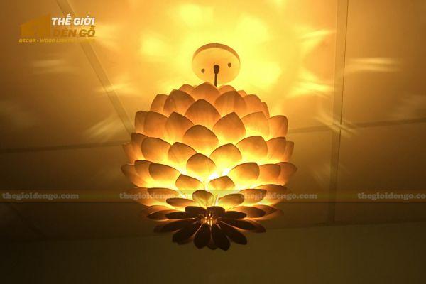 Thế Giới Đèn Gỗ - Đèn gỗ trang trí hoa cúc bất tử 9