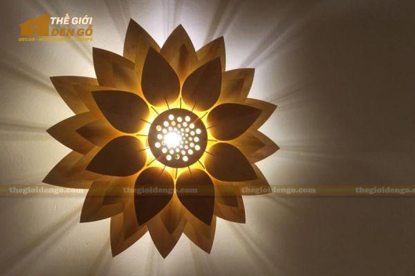 Thế giới đèn gỗ - Đèn gỗ trang trí hoa sen 16