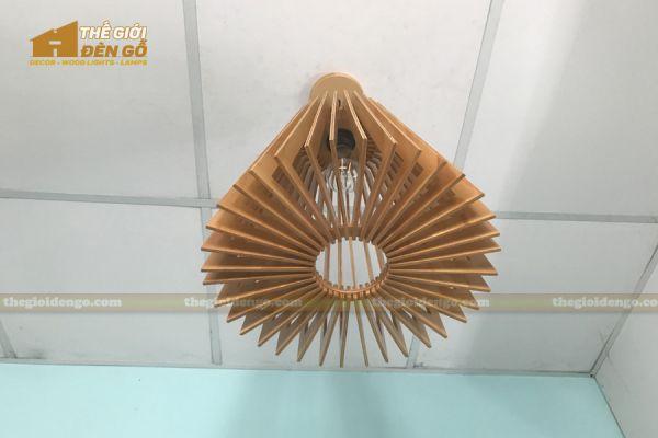 Thế giới đèn gỗ - Đèn gỗ trang trí nón trụ 12