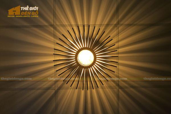 Thế giới đèn gỗ - Đèn gỗ trang trí nón trụ 15