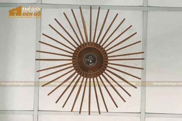 Thế giới đèn gỗ - Đèn gỗ trang trí nón trụ 16