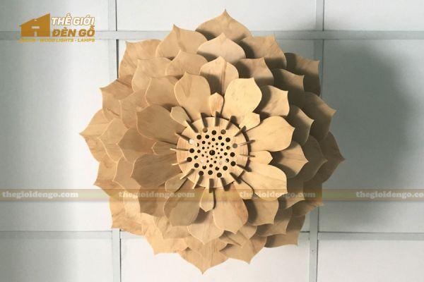 Thế Giới Đèn Gỗ - Đèn gỗ trang trí sen đá 5