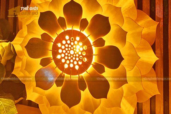 Thế Giới Đèn Gỗ - Đèn gỗ trang trí sen đá 7