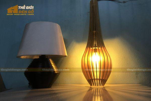Thế giới đèn gỗ - Đèn gỗ trang trí treo tường DGW039 - 2