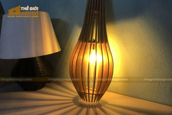 Thế giới đèn gỗ - Đèn gỗ trang trí treo tường DGW039 - 3