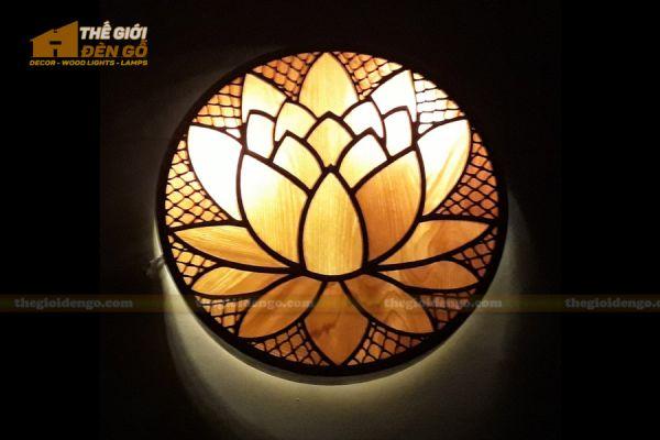 Thế Giới Đèn Gỗ - Đèn gỗ trang trí treo tường DGW040 - 1