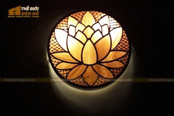 Thế Giới Đèn Gỗ - Đèn gỗ trang trí treo tường DGW040 - 2