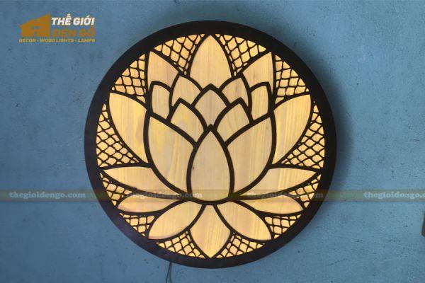 Thế Giới Đèn Gỗ - Đèn gỗ trang trí treo tường DGW040 - 3