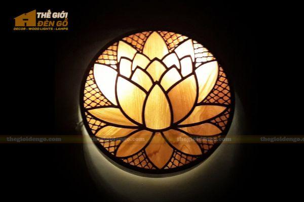 Thế Giới Đèn Gỗ - Đèn gỗ trang trí treo tường DGW040