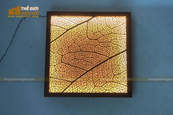 Thế Giới Đèn Gỗ - Đèn gỗ trang trí treo tường DGW041