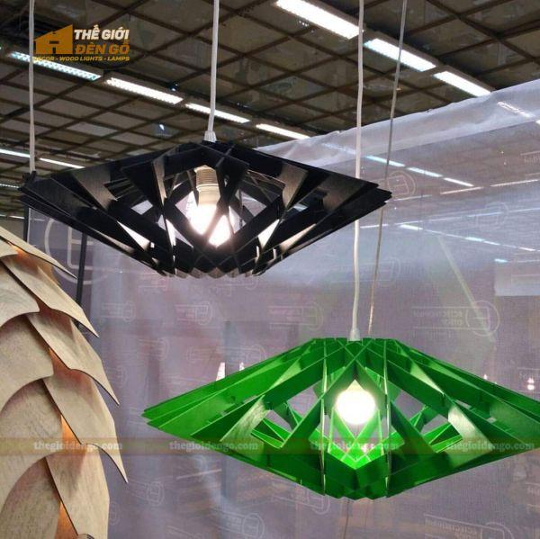 Thế Giới Đèn Gỗ - Đèn gỗ trang trí DG300-4