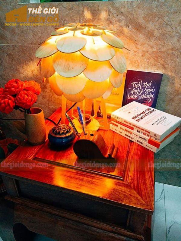 Thế Giới Đèn Gỗ - Đèn gỗ trang trí để bàn TGDG-17-1