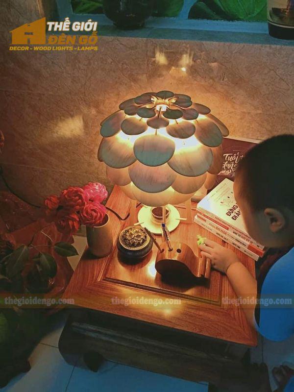 Thế Giới Đèn Gỗ - Đèn gỗ trang trí để bàn TGDG-17-2