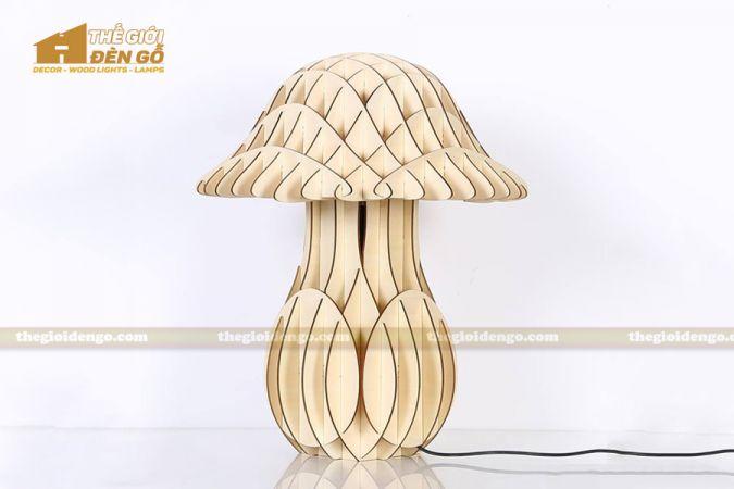 Thế giới đèn gỗ - Đèn gỗ trang trí để bàn TGDG-10-1