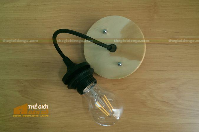 Thế giới đèn gỗ - Đèn gỗ trang trí trống đồng 5