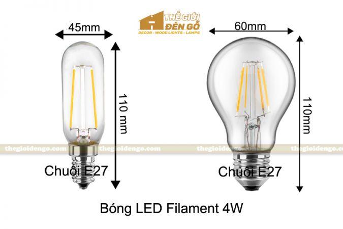Thế Giới Đèn Gỗ - Bóng đèn Led Filament 4W