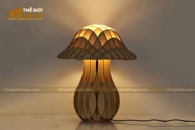 Thế Giới Đèn Gỗ - 15 mẫu đèn gỗ trang trí hot nhất đầu năm 2020 - Đèn bàn cây nấm