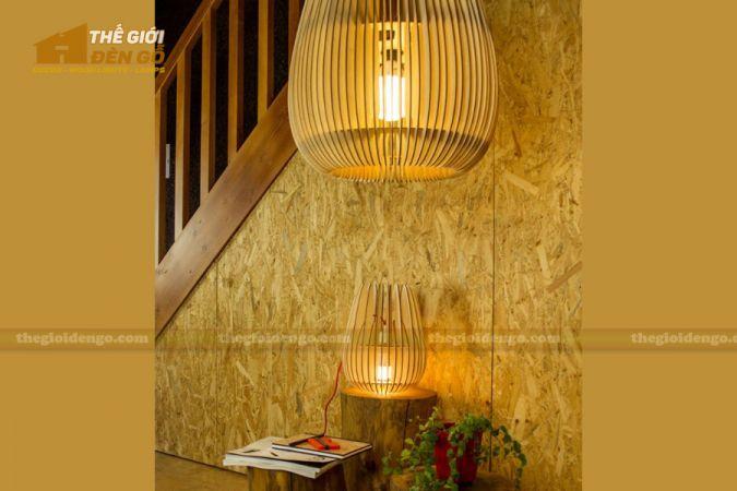 Thế Giới Đèn Gỗ - Đèn gỗ trang trí dg273-4