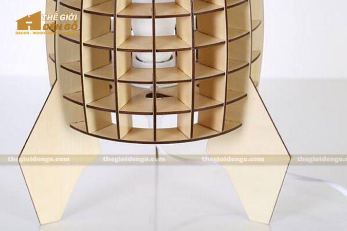 Thế giới đèn gỗ - Đèn gỗ trang trí để bàn TGDG-09-3