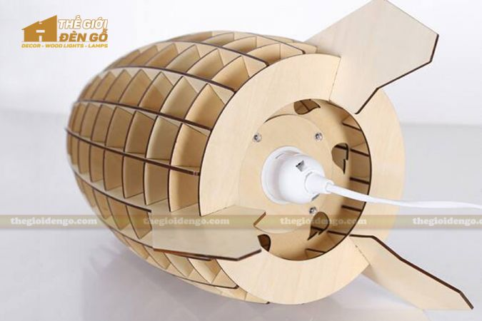 Thế giới đèn gỗ - Đèn gỗ trang trí để bàn TGDG-09-4