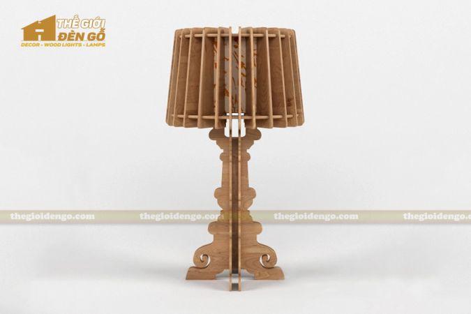 Thế giới đèn gỗ - Đèn gỗ trang trí để bàn TGDG-13-1