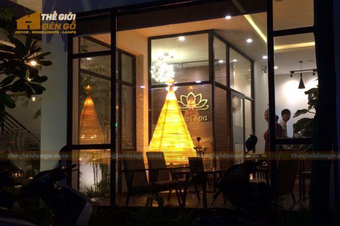 Thế Giới Đèn Gỗ - Đèn gỗ trang trí cây thông 3