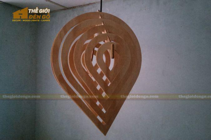 Thế giới đèn gỗ - Đèn gỗ trang trí giọt nước 2