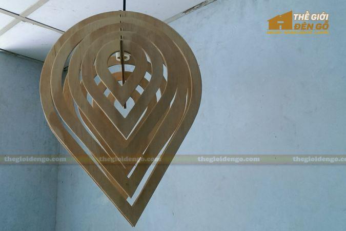 Thế giới đèn gỗ - Đèn gỗ trang trí giọt nước 3