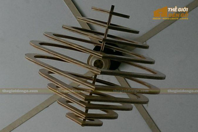 Thế giới đèn gỗ - Đèn gỗ trang trí giọt nước 4